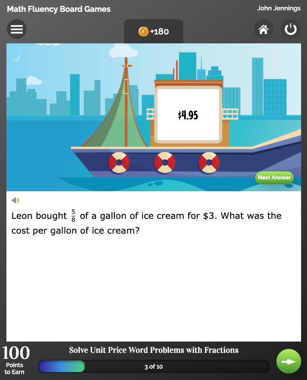 Fluency Game Math 2